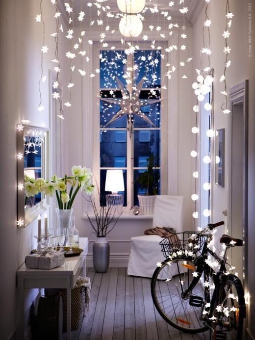 Décoration de Noël: misez sur la lumière! www.nordikdeco.com